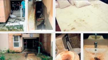 These images obtained by the BBC show the conditions inside rooms at the athletes village being used for the Commonwealth Games in Delhi.