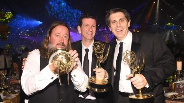 Sam Conway, Glenn Melenhorst and Eric Carney were among the nine who shared the Emmy for Visual Effects for the
