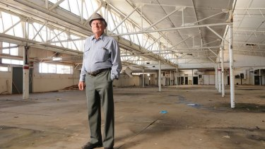 Jack Caple, 93, worked for Fletcher Jones for 33 years. Now the factory is a shadow of its former self.