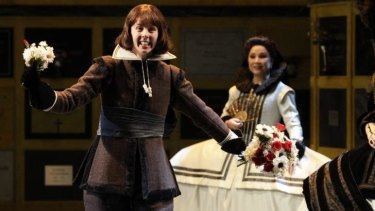 Anna Dowsley takes the role of Tebaldo in the opera Don Carlos.