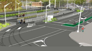 An artist's impression of the Domain interchange upgrade.
