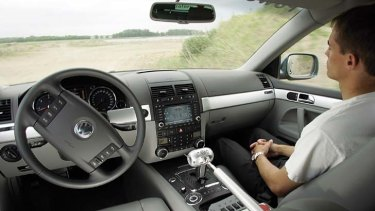 Racing ahead ... car makers are in a race to market the first self-driving vehicle.