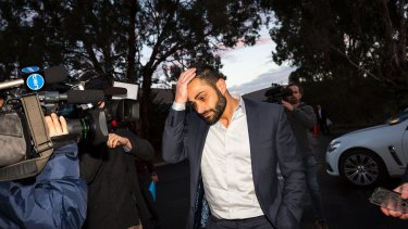 Ali Fahour arrives at the Northern Football League tribunal in July.