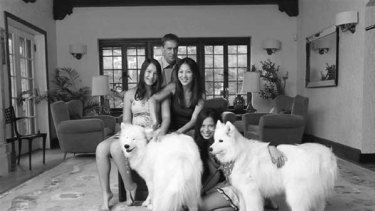 Chua with her family.