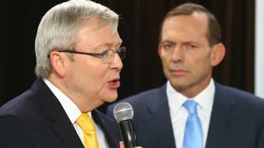 Tony Abbott is edging closer to Kevin Rudd as preferred prime minister according to the Fairfax Nielsen Poll.