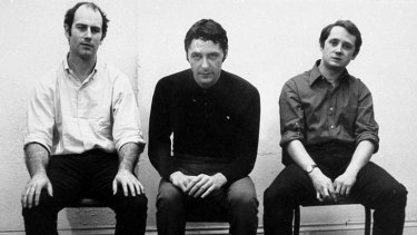 Portrait of the young artists: (From left) Ian Burn, Roger Cutforth and Mel Ramsden in 1969.