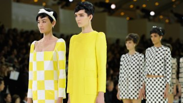 Models wore bold, block colours festooned with geometric and checker board patterns.