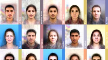 "Some of the ""average"" faces from around the world."