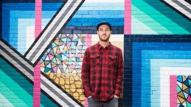 Street artist Bradley Eastman, known to some as Beastman.