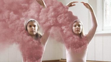 Twin sisters Juliette and Madeleine Hemphill star in <i> I Saw the Second One Hit</i>.