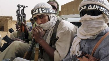 Militiaman from the Ansar Dine Islamic group.