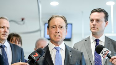 Sports minister Greg Hunt has been talking to gambling companies about the national sports lottery.