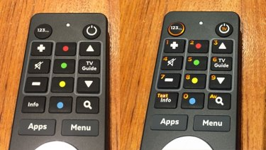 "The remote's number pad is hidden inside the other buttons – press ""123..."" to light them up."