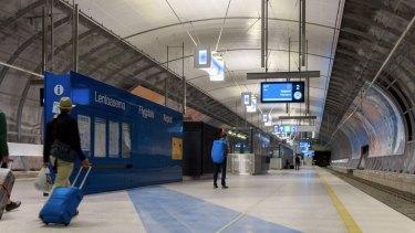 Helsinki airport's new rail line opened in June.