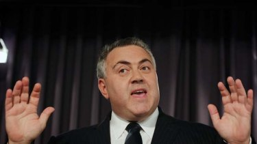 Funds aren't there … the shadow treasurer, Joe Hockey, at the National Press Club yesterday, said ''the government is engaged in a cruel hoax''.