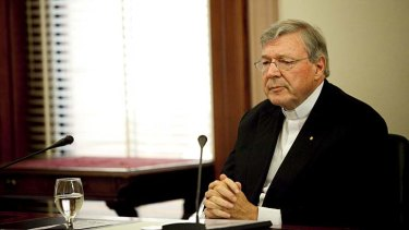"""''I wanted to help them"""": Cardinal George Pell."""