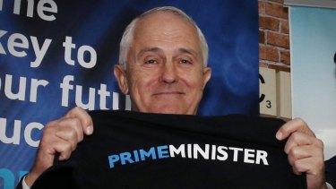 Malcolm Turnbull in Brisbane on Wednesday.