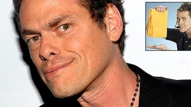 Vince Offer and, inset, in action with the ShamWow.