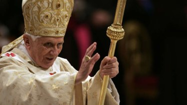 Failing health ... Pope Benedict XVI.