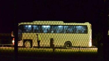 40 male asylum seekers depart Christmas Island for Manus Island via Darwin.