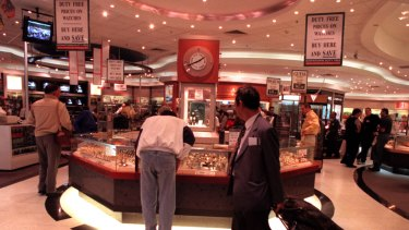 Gold mine: Duty free at Sydney Airport.
