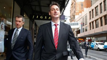 Expulsion push: Eric Roozendaal leaves the ICAC after giving evidence in September.