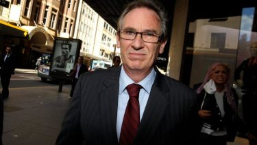 Removed from committees: Londonderry MP Bart Bassett outside the ICAC.