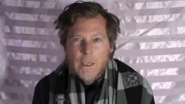 A man identified as Australian Timothy Weeks pleads for his release in a video released by the Taliban.