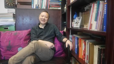 Benny Tai in his office.