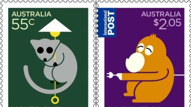 Positive push ... the new stamps.