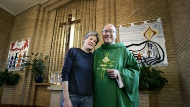 Father Bill  Edebohls, formerly an Anglican was one of Melbourne's first married priests. Pictured in 2005 with his wife Robyn St Pius.
