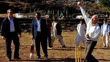 Cricket tragic ... John Howard.