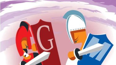 Clash of the knights: Google Apps  vs Microsoft Office 2010.
