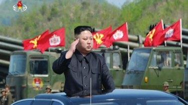 """Flagrant menace"": North Korean leader Kim Jong-un"