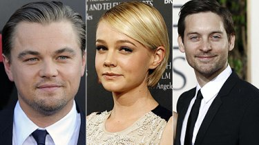 Stars of the Great Gatsby . . . Leonardo DiCaprio, Carey Mulligan and Tobey Maguire.