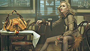 Madonna advertises Louis Vuitton's 2009 range, causing a rush of interest.