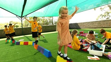 Being creative: children engage in ''developmental play'' at Birchgrove Public School.
