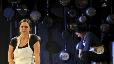 Warm, detailed and open ... Emma Jackson, left, and Kate Box in Belvoir St Theatre's new production, <i>Food</i>.