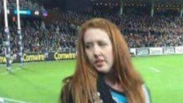 A photo posted to Facebook, purportedly showing the woman who threw a banana at footballer Eddie Betts on Saturday night.