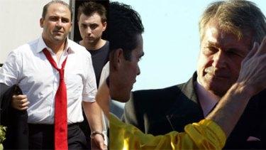 Tony Mokbel; Nikolic with Samba at Eagle Farm, Brisbane, in 2004; police on the street where Samba was killed;
