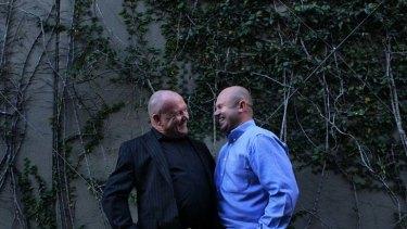 """We do"" ... Michael Faucett (left) with his partner Brendon Beavan."