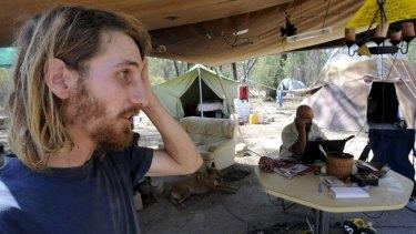 Jonathon Moylan at the site of the Maules Creek mine protest.