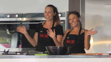 <i>My Kitchen Rules</i> contestants Chloe James and Kelly Ramsay wow the crowd at the Channel Seven Mandurah Crab Fest.