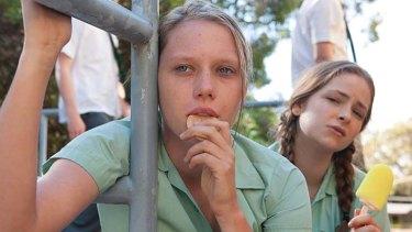 Brenna Harding stars in Puberty Blues.