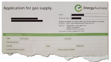 Nicky did as the letters instructed and gave her details to Energy Australia.