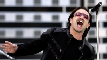 Something to crow about ... Bono, the lead singer of U2, says the band has an obligation  to engage with – and shape – the world in which it performs.