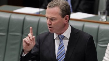 Education Minister Christopher Pyne has been tasked with dealing with Clive Palmer.