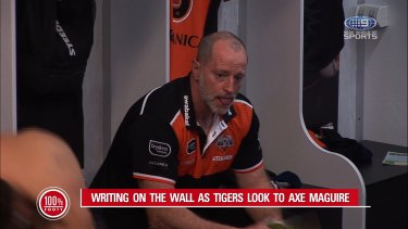 Rugby league guru Phil Gould has pinpointed where Wests Tigers have gone wrong in their handling of Michael Maguire's future.
