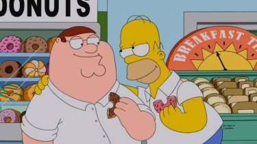 A friendship made in baked-goods heaven ... Peter Griffin and Home Simpson.