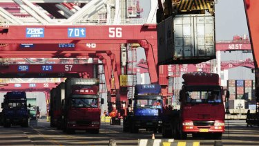 Weak global demand and a slowing domestic economy are dampening activity at China's ports.